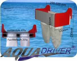 AquaDriver ® Kaskadenfilter Sockenfilter Doppelmodul   - Bild vergrößern